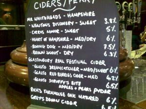Cider & Perry List - Bacchus 25 10 2009